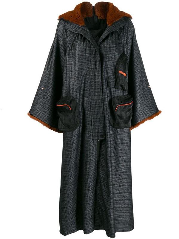 Quetsche oversized hooded coat in black