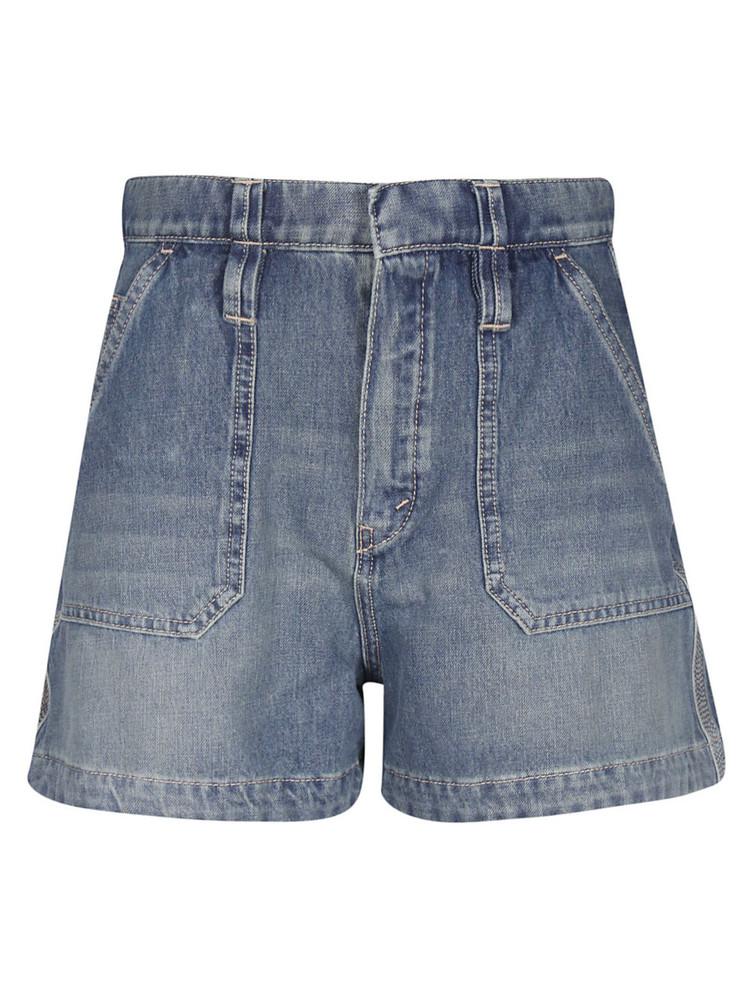 Chloé Chloé High Waist Shorts in blue