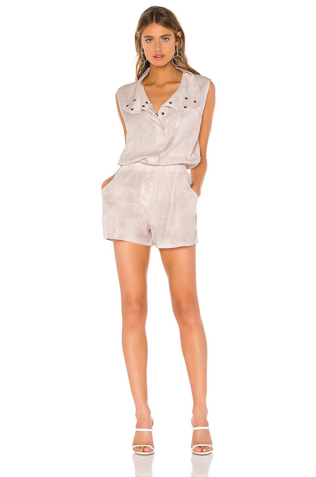 YFB CLOTHING Rodeo Romper in blush