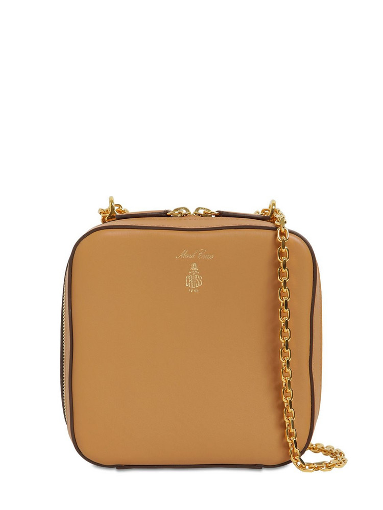 MARK CROSS Rose Smooth Leather Bag in beige