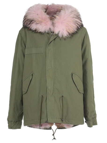 Mr & Mrs Italy Fur Parka in pink