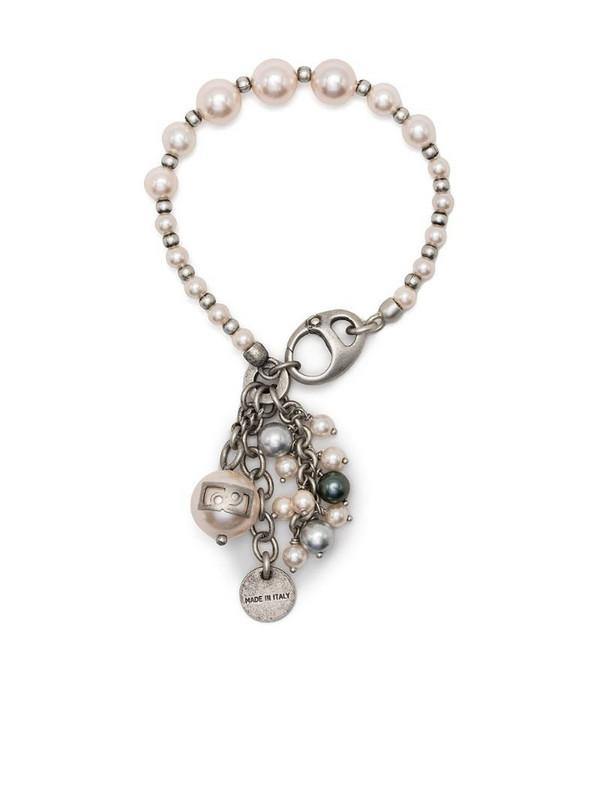 Ports 1961 pearl charm bracelet in silver