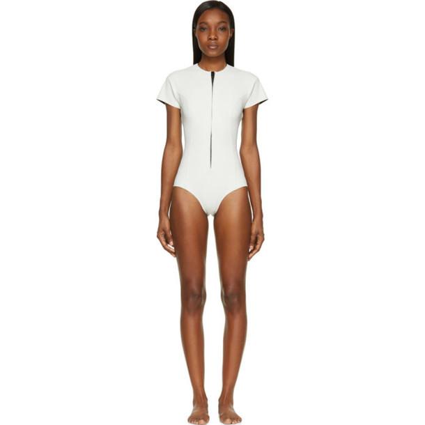 Lisa Marie Fernandez White Short Sleeve Farrah Swimsuit