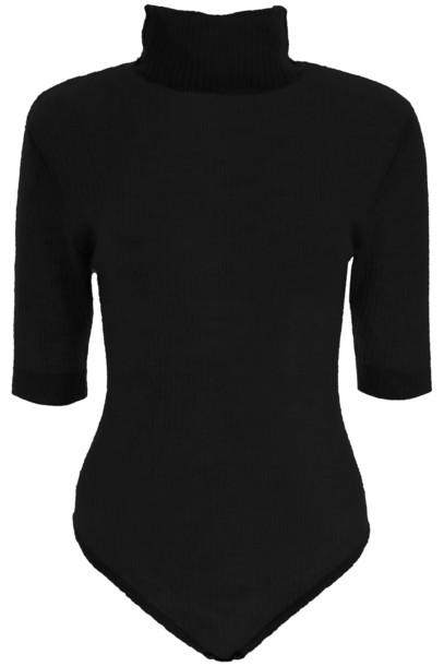 Mes Demoiselles Knit Bodysuit in black