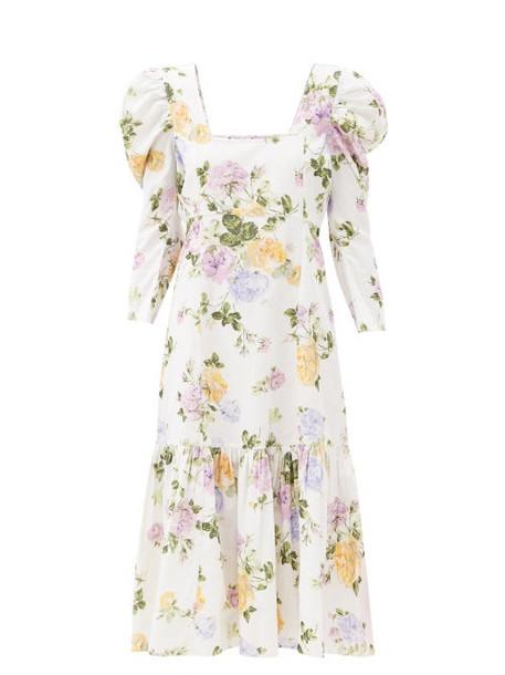 Loveshackfancy - Ellington Floral-print Cotton-corduroy Dress - Womens - White Print