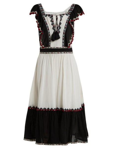 Talitha - Alicia Ruffle Trimmed Cotton Dress - Womens - White Multi