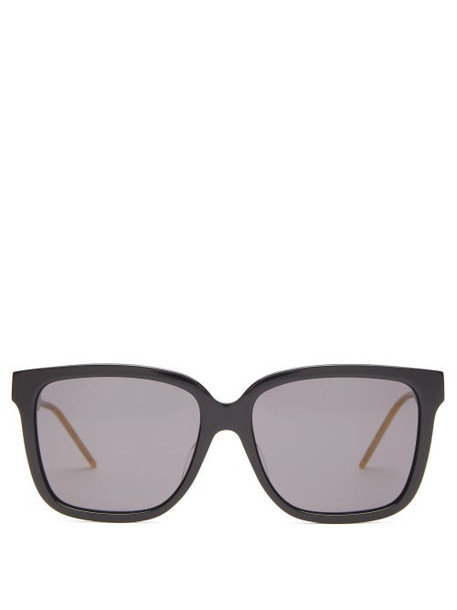 Gucci - Square Acetate Sunglasses - Womens - Black