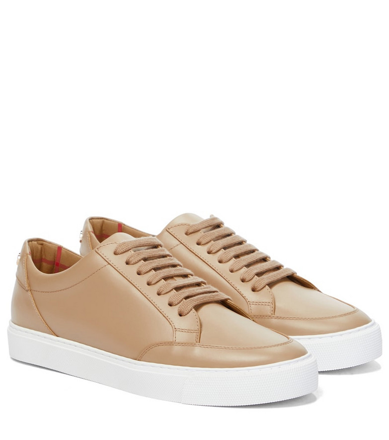 Burberry Leather sneakers in beige