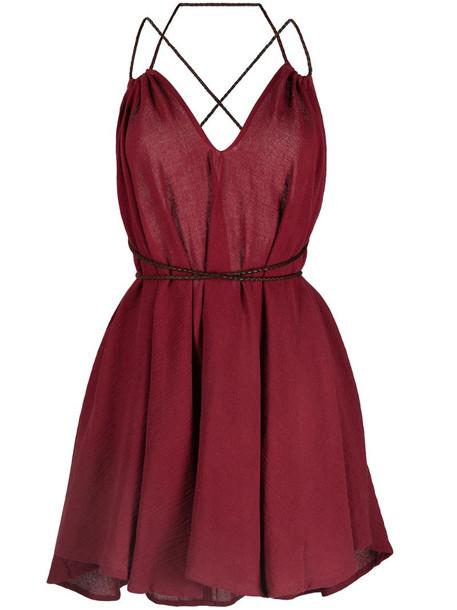 Caravana Mahahual cotton-blend dress in red