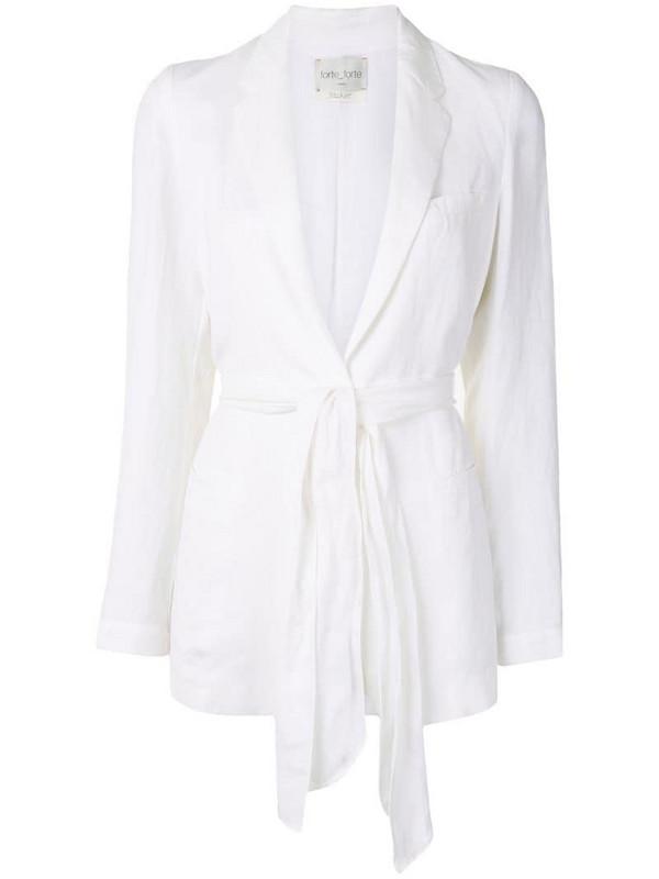 Forte Forte My Jacket tie-waist blazer in white