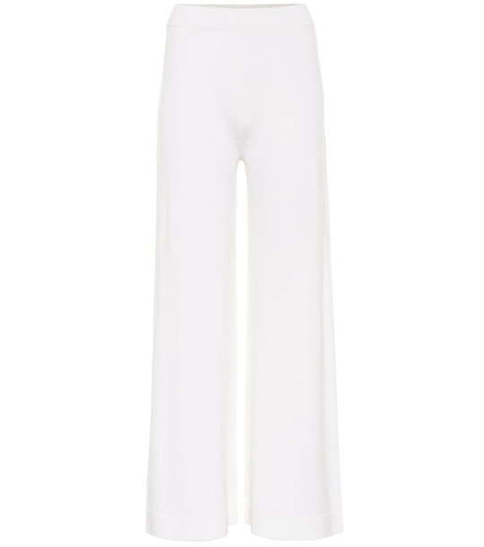 Max Mara Leisure Renna wide-leg wool pants in white