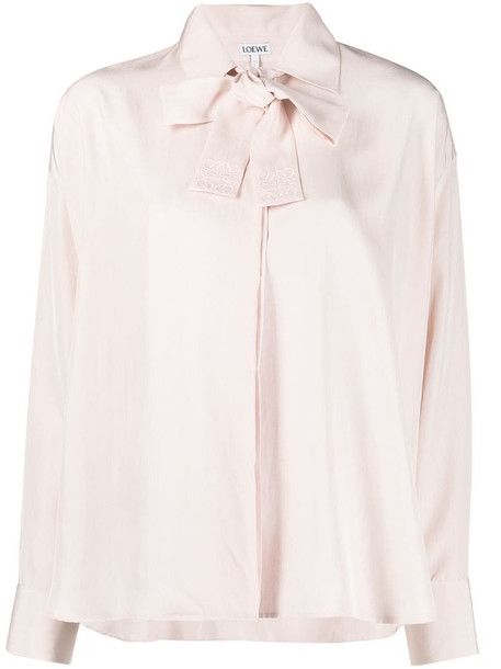 LOEWE neck strap swing shirt in pink