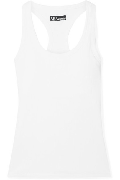 All Access - Session Ribbed Stretch Tank - White