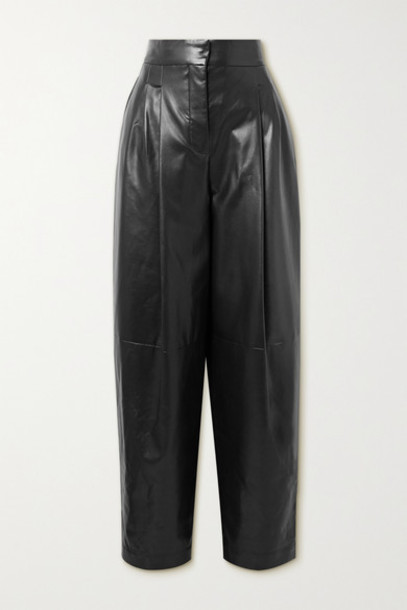 Philosophy di Lorenzo Serafini - Faux Leather Tapered Pants - Black