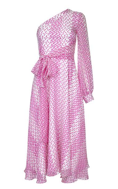 Safiyaa Valeria One Shoulder Midi Dress in print