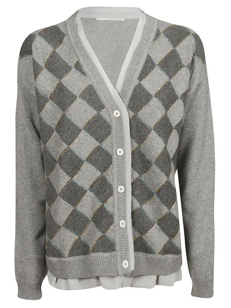 Marco De Vincenzo Buttoned Cardigan in grey