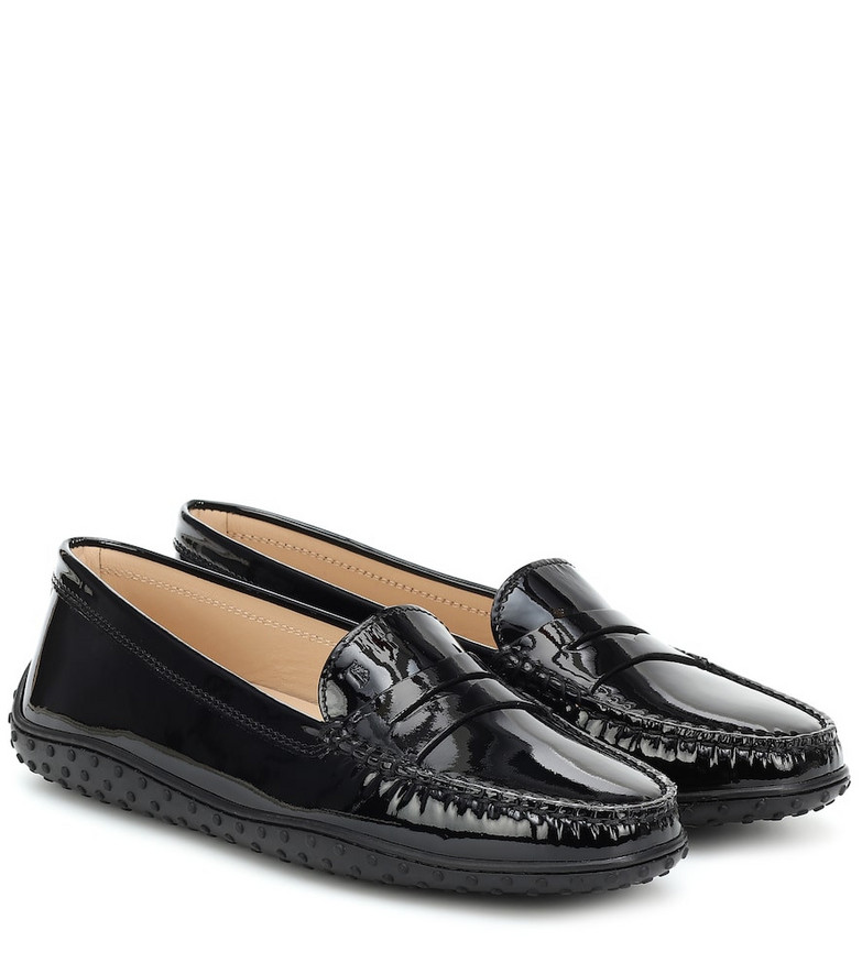 Tod's Gommino patent leather loafers in black
