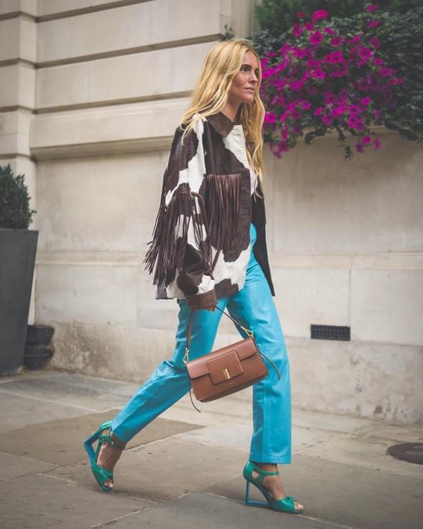 bag brown bag leather high waisted pants sandal heels