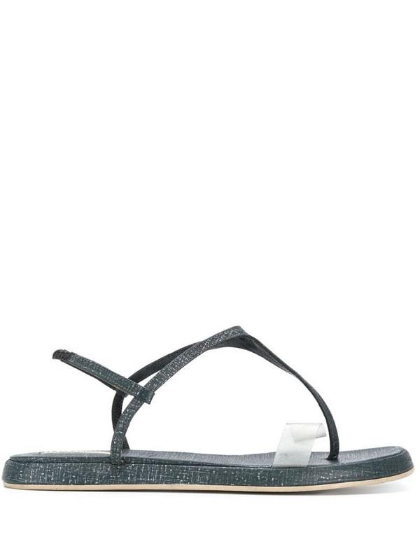 Giorgio Armani Pre-Owned slingback flat sandals in blue