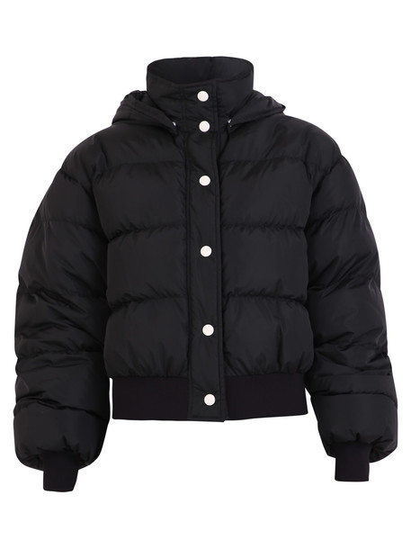 MSGM Logo Print Nylon Padded Jacket