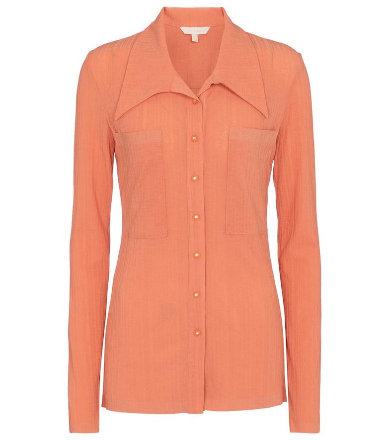 Low classic Stretch-knit shirt in orange