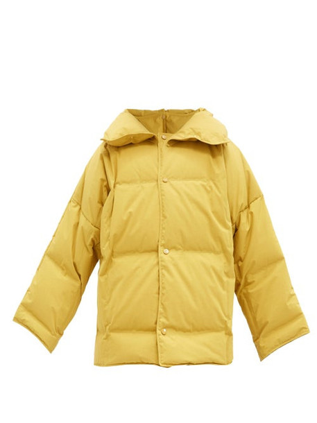 Bottega Veneta - Frosted Cotton-poplin Down-filled Coat - Womens - Yellow