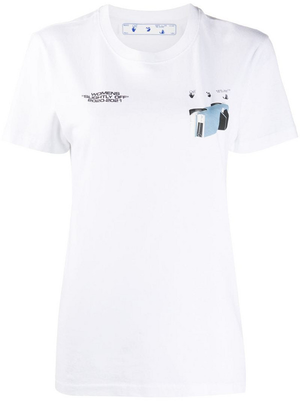 Off-White Cars slim-fit T-shirt in white