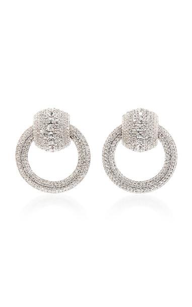 Alessandra Rich Circle Earrings in silver