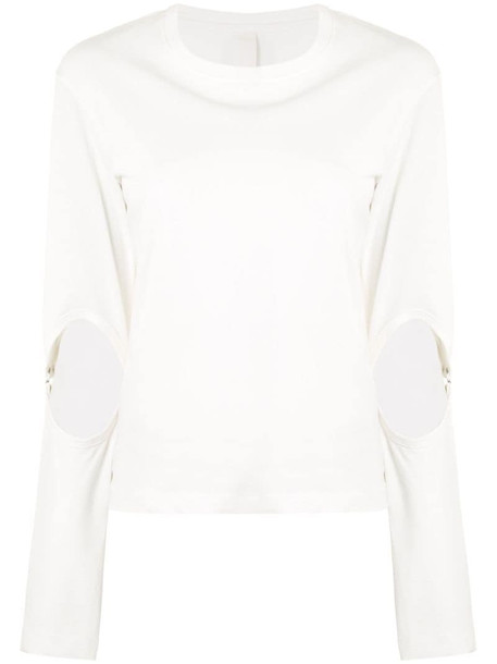 Dion Lee cut-out detail jumper in white