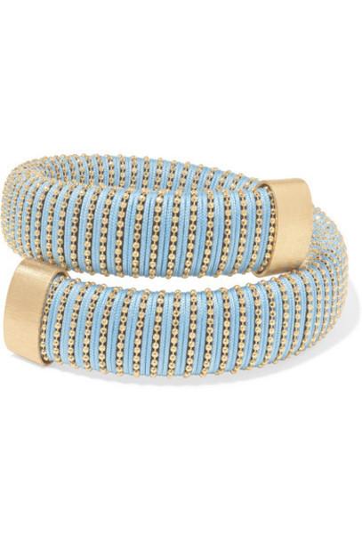 Carolina Bucci - Caro Gold-plated And Cotton Bracelet