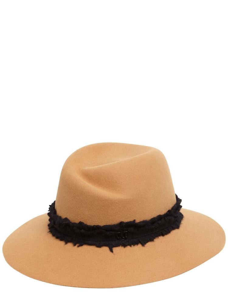 MAISON MICHEL Virginie Wool Felt Hat in brown