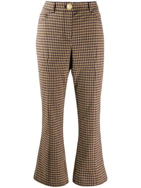 Derek Lam 10 Crosby high-waisted kick flare trousers in brown