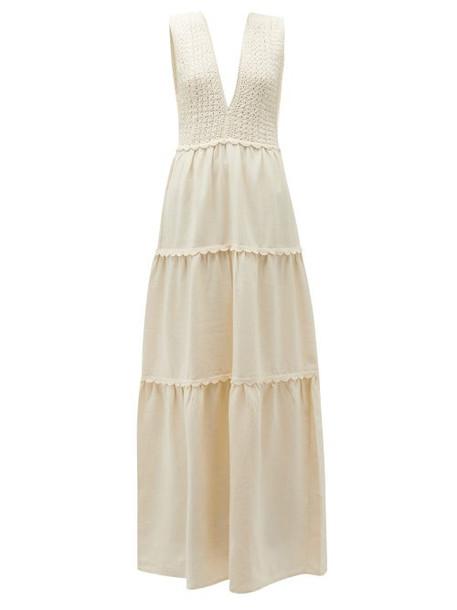 Escvdo - Teresa Tiered Cotton Dress - Womens - Ivory