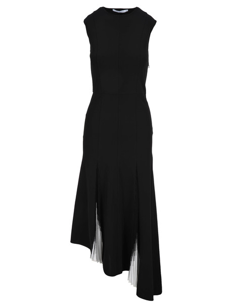 Givenchy Givenchy Long Knit Pleated Dress in black