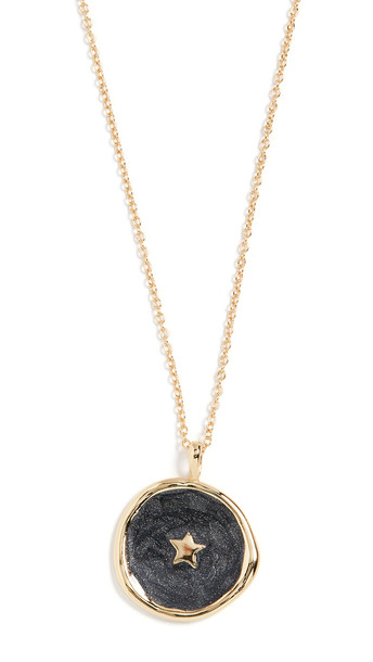 Gorjana Star Coin Necklace in black / gold