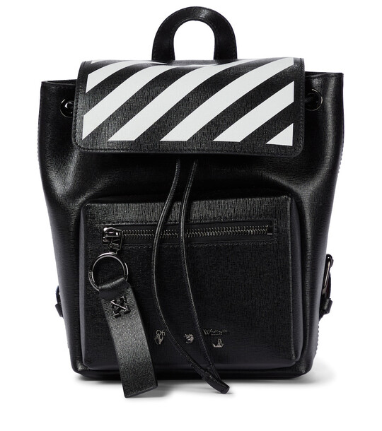 Off-White Diag leather backpack in black