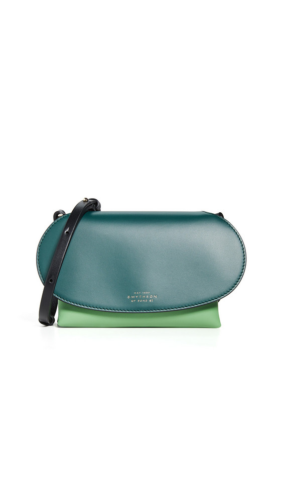 Smythson Mini Pillow Crossbody Bag in emerald