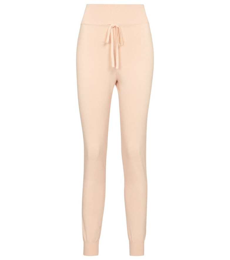 Live The Process High-rise slim sweatpants in pink
