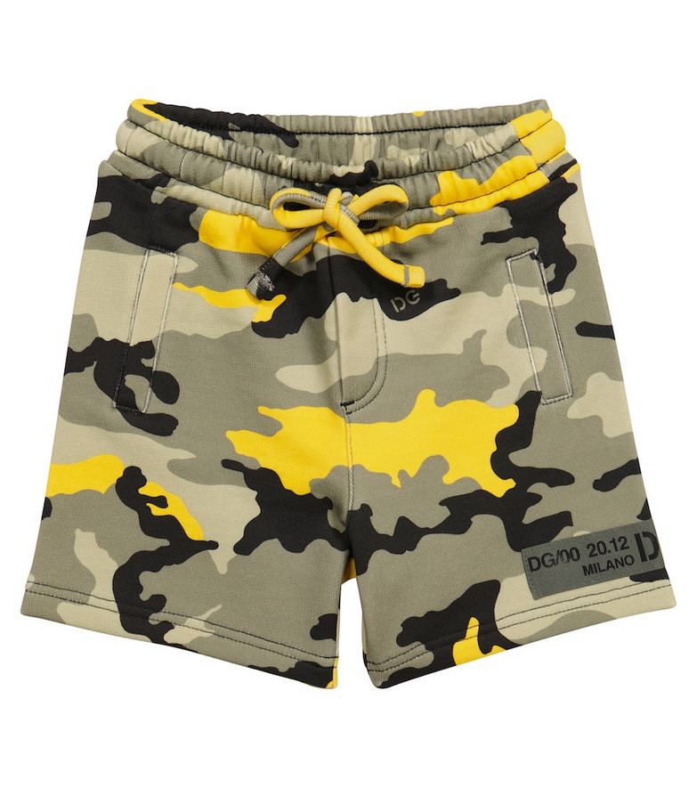 Dolce & Gabbana Kids Baby Camouflage shorts in grey