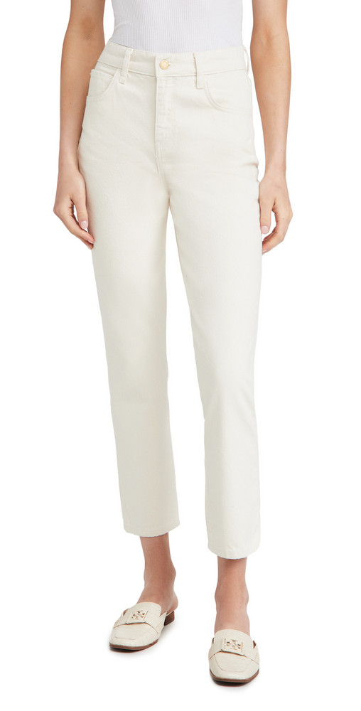 Triarchy High Rise Stove Pipe Jeans in white