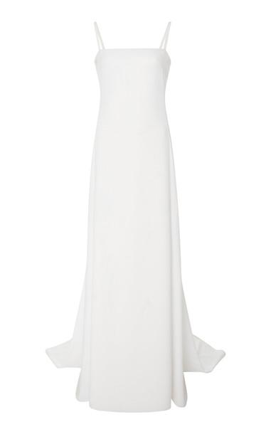Carolina Herrera Harrison Open Back Gown in white