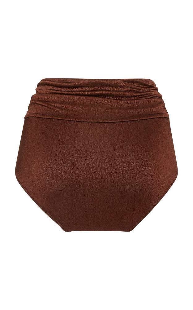 DoDo Bar Or Salinna Ruched Shell Bikini Bottoms in brown