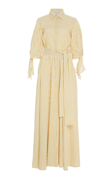 Luisa Beccaria Collar Self Tie Dress Size: 52 in orange