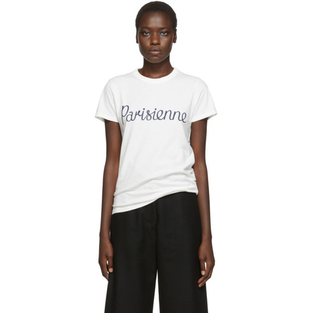 Maison Kitsune Off-White Parisien T-Shirt