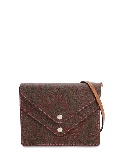 ETRO Coated Canvas Shoulder Bag in brown
