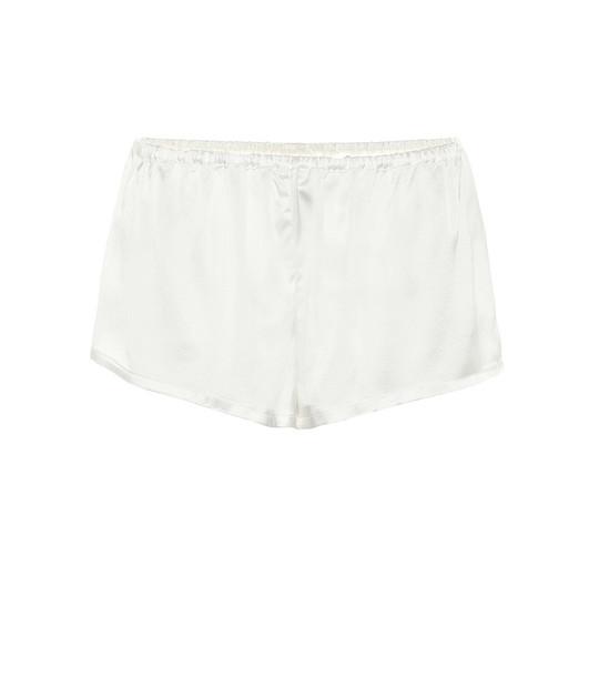 Asceno The Venice silk pajama shorts in white