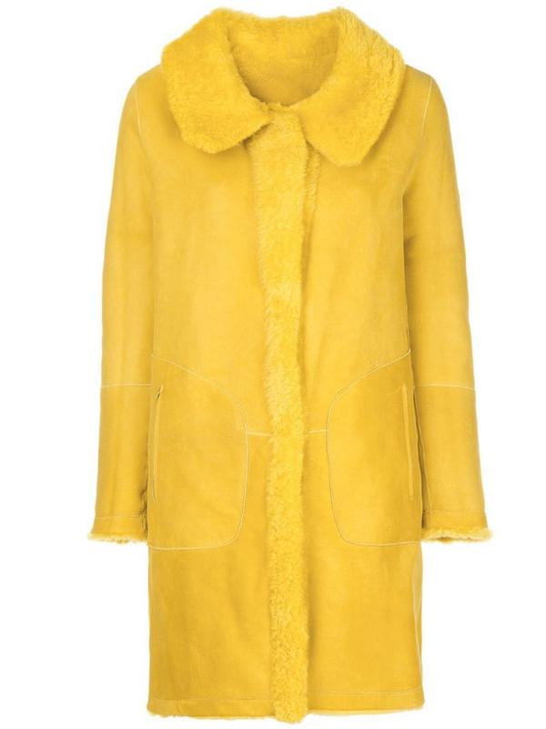 Sylvie Schimmel reversible single-breasted coat in yellow