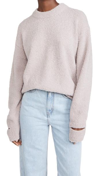 Tibi Slit Cuff Easy Pullover