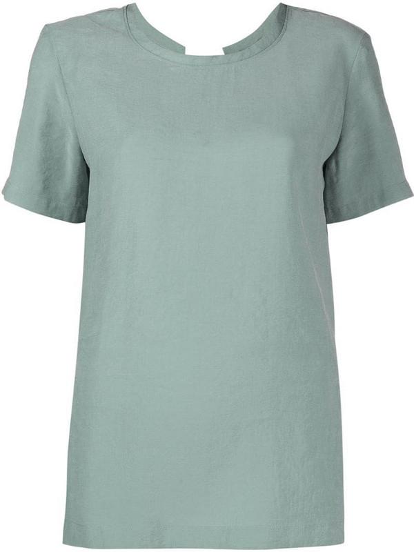 Alysi crew-neck short sleeve T-shirt in green