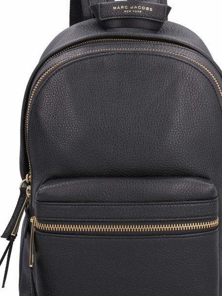 Marc Jacobs Grainy Leather Backpack in black